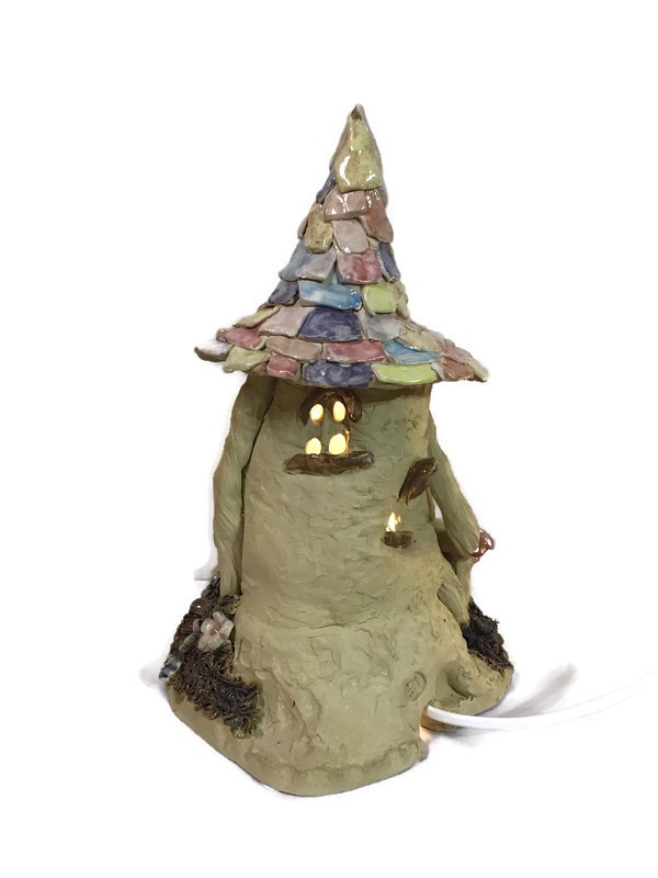 10. Fairy House with tiled roof.