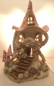7. Fairy house lamp