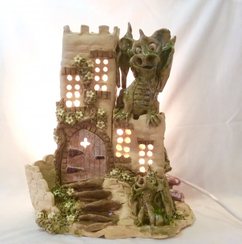 Dragon Castle Lamp - large