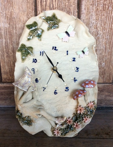Shy Fairy Clock