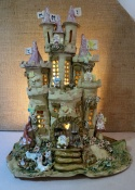 Fairy Castle Lamp with bunny rabbits