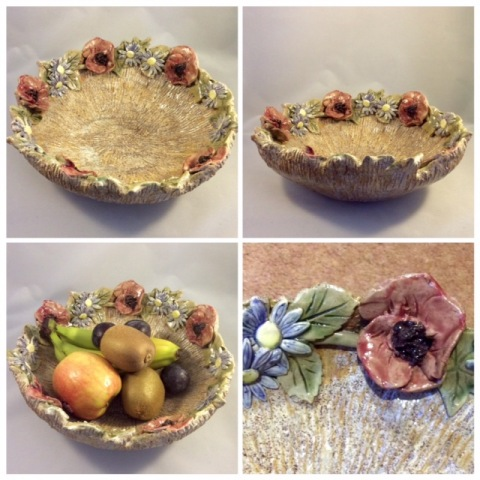Fruit Bowl. Poppy and Daisy Design
