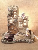 Castle and fairies - lamp