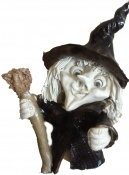 Small witch with broomstick